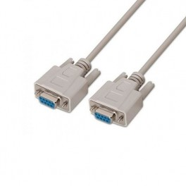 CABLE SERIE RS232 DB9 HEMBRA - HEMBRA AISENS BEIGE 1.8M - Inside-Pc