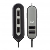 USB CAR CHARGER - 5 PORTS - 54W EWENT - Inside-Pc