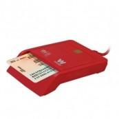 LECTOR TARJETA CHIP DNIE USB WOXTER ROJO TR3.0 - Inside-Pc