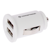 CARGADOR 2X USB POWER2GO COCHE BLANCO PACK 5 - Inside-Pc