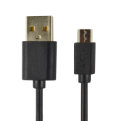 CABLE POWER2GO USB-A A MICRO-USB 1M NEGRO PACK 5 - Inside-Pc