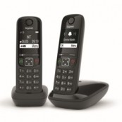 TELEFONO INALAMBRICO DECT GIGASET AS690 DUO NEGRO - Inside-Pc